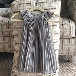 Beautiful gray shimmer dress by Baby Gap 6-12 mos